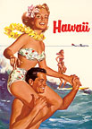 Hawaii - Northwest Orient Airlines - Hawaii Magnet