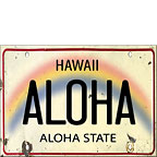 Aloha License Plate - Hawaii Magnet