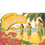 Aloha From Waikiki - Hawaii Magnet