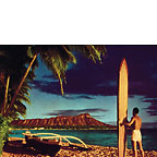 Outrigger & Diamond Head - Hawaii Magnet