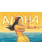 Aloha (Hula Girl) - Hawaii Magnet