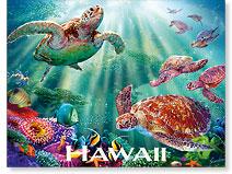 Turtle Voyage - Hawaiian 'Alohi Magnet - Glitter Embellished