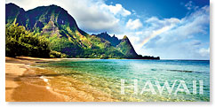 Rainbow Bali Hai - Hawaii Panoramic Magnet