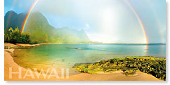 Rainbow Kauai - Hawaii Panoramic Magnet