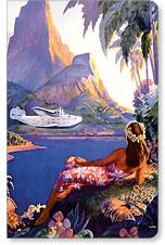 Fly to the South Seas Isles - Hawaii Mini Notebook