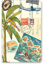 Vintage Collage - Hawaii Mini Notebook