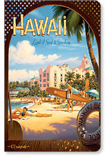 Hawaii Land of Surf - Hawaii Mini Notebook