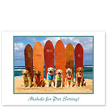 Waikiki Beach Dogs - Pet Sitting Greeting Card