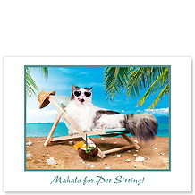 9 Lives in Paradise - Pet Sitting Greeting Card