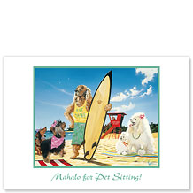 Hot Dawg - Pet Sitting Greeting Card
