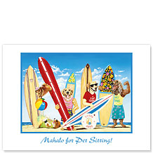 K-9 Surf Club - Pet Sitting Greeting Card