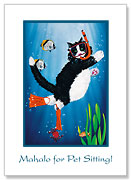Snorkel Kitty - Pet Sitting Greeting Card