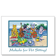 Luau by the Sea - Pet Sitting Greeting Card