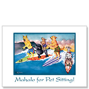 Honolulu Hot Dogs - Pet Sitting Greeting Card