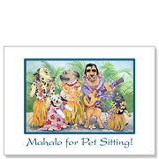 A'Hunka Hunka Burnin' Aloha - Pet Sitting Greeting Card