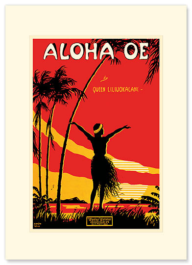 Aloha Oe - Personalized Vintage Collectible Greeting Card