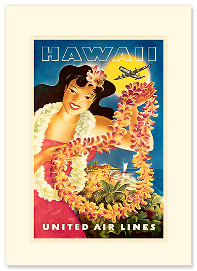 United Air Lei Poster - Personalized Vintage Collectible Greeting Card