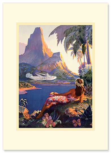 Fly to South Seas - Personalized Vintage Collectible Greeting Card