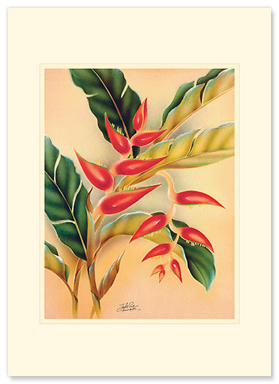 Heliconia - Personalized Vintage Collectible Greeting Card