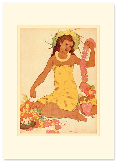 Leimaker, Hawaii - Personalized Vintage Collectible Greeting Card