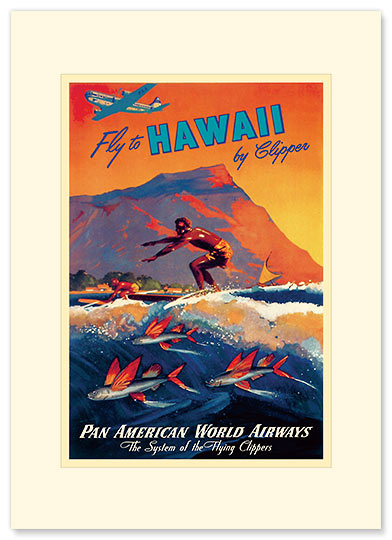 Fly To Hawaii - Personalized Vintage Collectible Greeting Card