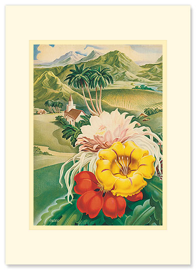 Hawaiian Blessings - Personalized Vintage Collectible Greeting Card