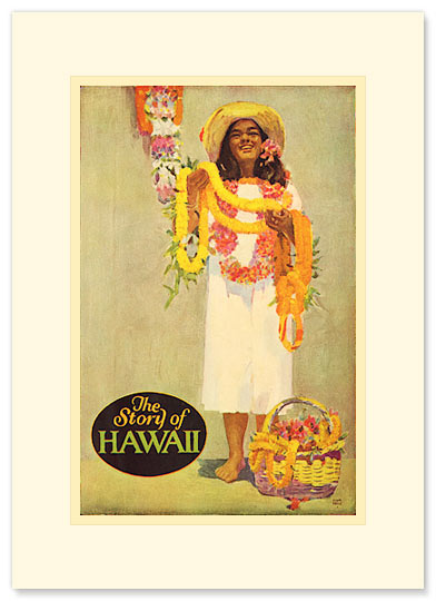The Story of Hawaii Lei - Personalized Vintage Collectible Greeting Card