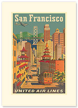 San Francisco City View - Vintage Collectible Greeting Card