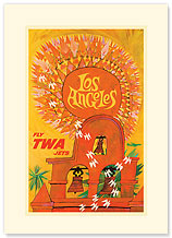 Los Angeles Sun - Premium Vintage Collectible Blank Greeting Card