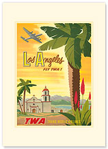 Los Angeles - Palm - Premium Vintage Collectible Blank Greeting Card