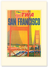 San Francisco - Golden Gate - Premium Vintage Collectible Blank Greeting Card