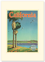 California - Santa Fe - Premium Vintage Collectible Blank Greeting Card