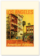 Los Angeles Movie Set - Premium Vintage Collectible Blank Greeting Card