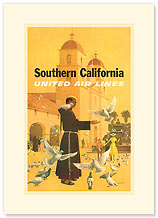 Southern California - Premium Vintage Collectible Blank Greeting Card