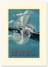 Aviation - Dans Tous les Ciels - Premium Vintage Collectible Blank Greeting Card