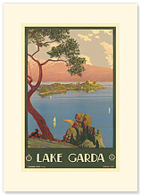 Lake Garda, Italy - Premium Vintage Collectible Blank Greeting Card