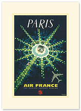 Aviation Paris, Arc de Triomphe - Premium Vintage Collectible Blank Greeting Card