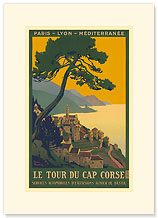 Paris - Lyon - Mediterranee Railway, Le Tour du Cap Corse - Premium Vintage Collectible Blank Greeting Card