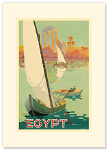 Egypt The Nile River - Premium Vintage Collectible Blank Greeting Card
