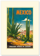 Mexico, Ciudad Juarez, Chihuahua - Premium Vintage Collectible Blank Greeting Card
