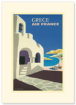 Aviation: Grece - Greece - Premium Vintage Collectible Blank Greeting Card