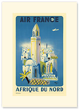 Aviation: Afrique du Nord, Morocco - Premium Vintage Collectible Blank Greeting Card