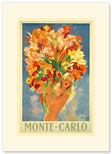 Monte-Carlo Flower Girl, France - Premium Vintage Collectible Blank Greeting Card