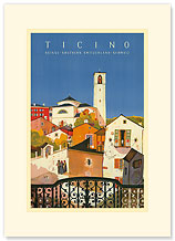 Ticino, Southern Switzerland - Premium Vintage Collectible Blank Greeting Card
