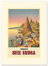 Banaras: See India - Premium Vintage Collectible Blank Greeting Card