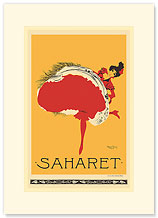 Saharet - Dance Performance Advertisement - Premium Vintage Collectible Blank Greeting Card