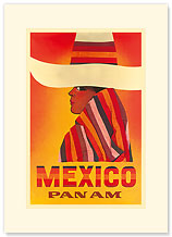 Pan American: Mexico - Premium Vintage Collectible Blank Greeting Card