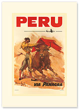 Panagra Pan American-Grace Airways: Peru - Premium Vintage Collectible Blank Greeting Card