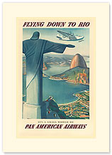 Flying Down To Rio - Premium Vintage Collectible Blank Greeting Card
