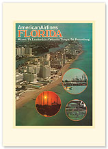 American Airlines: Florida - Premium Vintage Collectible Blank Greeting Card